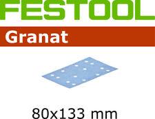 FESTOOL Schleifscheiben GRANAT 80x133 StickFix 497127 in 10er 50er 100er Pack