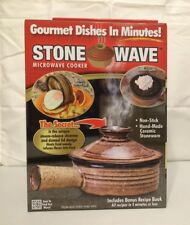 Stone Wave Microwave Cooker As Seen On TV. Non-stick Ceramic Stoneware