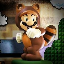 """15"""" Tanooki Suit Mario Hand Painted Statue by First 4 Figures *Never Opened*"""
