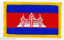 PATCH ECUSSON BRODE DRAPEAU CAMBODGE INSIGNE THERMOCOLLANT NEUF FLAG PATCHE