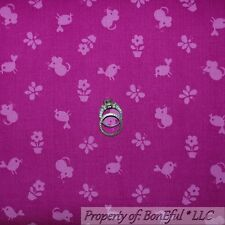 BonEful Fabric FQ Corduroy Cotton Pink Purple Bird Flower Spring Butterfly Mouse
