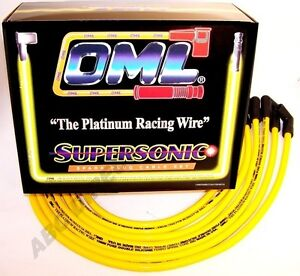 High Performance 10 mm Yellow Spark Plug Ignition Wire Set 48454Y