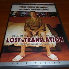 Lost in Translation (Dvd, 2004,Full Screen) Bill Murray, Scarlett Johansson Used