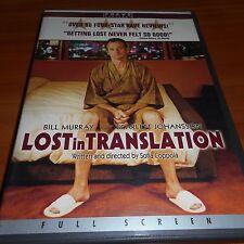 Lost in Translation (Dvd, 2004,Full Screen) Bill Murray, Scarlett Johansson Used