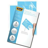 Self Adhesive Laminating Sheets 5 Mil 5 Packs Business Card Size Protector Pouch
