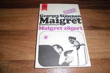 GEORGES SIMENON -- KOMMISSAR MAIGRET ZÖGERT // Heyne 1972