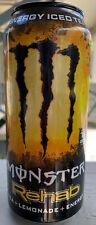 NEW MONSTER REHAB ICED TEA + LEMONADE ENERGY DRINK 15.5 FL OZ FULL CAN BUY ITNOW
