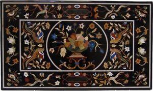 "48"" x 30"" Marble inlay semi precious stones center Table Top home decorative"