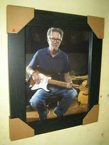 Eric Clapton Excellent Hand Signed Photograph {8x10} Framed With CoA