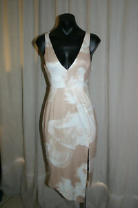 Pepper Mayo Dress, Gold, White, Abstract Pattern, M73645, 10, NWT