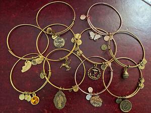 10 ALEX & ANI GOLD TONE & ROSE GOLD TONE BANGLES / BRACELETS-EXCELLENT CONDITION