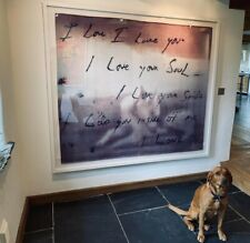 Tracey Emin Towel Tapestry XL Framed I Love You Limited Edition Print