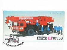 KIBRI 10556 H0 CAMION GRUA TELESCOPICA LIEBHERR de BOMBEROS   - NUEVO