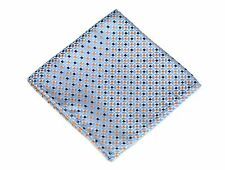 Lord R Colton Masterworks Pocket Square - Herne Sky & Orange Silk - $75 New