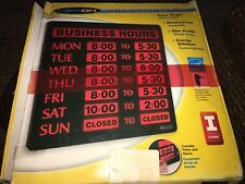 New on Led Lighted Business Hours sign Uesd Open Box