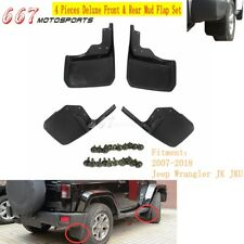 4Pcs Front Rear Mud Flap Splash Guards Fender Set For Jeep Wrangler JK JKU 07-18