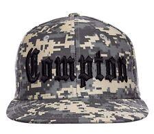 Camo Compton ACU Embroidered Hip Hop Flat Bill Snapback Snap Back Cap Hat