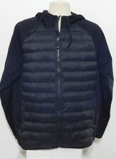 32 Degrees Mens Puffer Mixed media  Full Zip Jacket Size LARGE Blue NEW