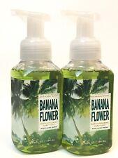LOT 2 BATH & BODY WORKS BANANA FLOWER GENTLE FOAMING HAND SOAP 8.75 FL OZ WASH