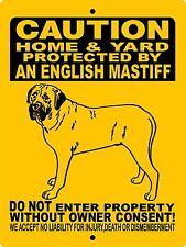 """English Mastiff Dog Sign,Guard Dog,Aluminum 9""""x12"""",Mastiff,Dog sign,H2496Hyem"""