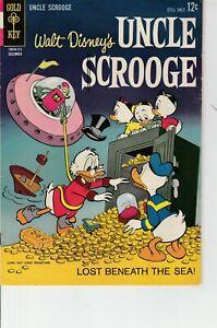 Walt Disney's Uncle Scrooge Lost Beneath The Sea #46 1963 Gold Key Comic FN-