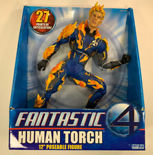 Marvel Fantastic Four Human Torch Flame On 12 inch Figure ToyBiz NIP 4+ S146-5