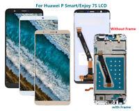 Pour Huawei P Smart/Enjoy 7S Écran LCD + TACTILE Remplacement FRAME NOIR AR02FR