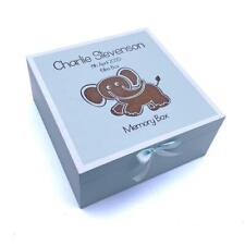 Personalised Baby Boy Blue Memories Keepsake Box CG1309B-10
