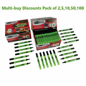 Show-me Drywipe Marker Medium Tip Slim Barrel Black Pack of 2,5,10,50,100