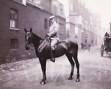 Vintage Circa 1907 Man On Horse Picture (8X10) Fine Art Print Antique Old Photo