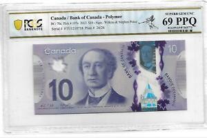 Canada/Bank of  Canada Pick#107C 2013 $10 PCGS 69 PPQ