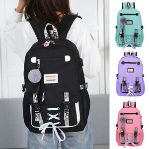 Unisex Boy Girl Backpack School Shoulder Bag College Travel Casual Rucksack Bags