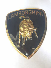 Lamborghini front emblem with gold border