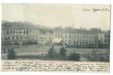 CARTOLINA 1901 VARESE STAZIONE FERROVIA NORD E TRAM ELETTRICO 97/A