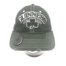 Guinness Extra Stout Bottle Opener Shamrock Two Tone Baseball Hat Cap Adj