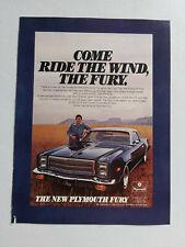 1977 Plymouth Fury Coupe Chrysler USA Original Magazine Advertisement