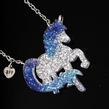 Unicorn Kids Necklace Friends Gifts L Fashion Children Acrylic Plate Bright Pink