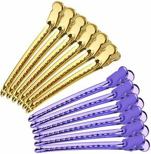 Alligator Hair Clips Styling Sectioning Style Coloring Salon Accessory 12 Pieces