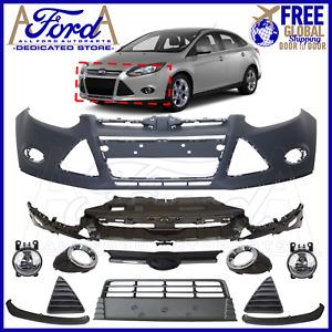 FORD FOCUS 2011-2014 MK3 Front Bumper Kit w/ Fog Lights Complete New BM51-17757