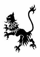 Rampant Lion Tattoo style stencil, 350 micron Mylar not thin stuff  #TaT0019