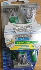 WILKINSON SWORD QUATTRO TITANIUM DISPOSABLE RAZORS - 3 RAZORS IN A PACK