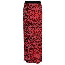 WOMENS LEOPARD STRIPE SKULLS CAMO MULTI PRINT GYPSY LONG JERSEY MAXI DRESS SKIRT