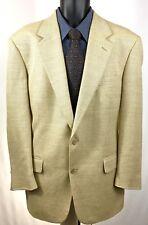 Brooks Brothers Mens Size 42 R Tan Herringbone Sport Coat Blazer Wool