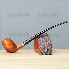 "26cm(10"")Long Stemed Reading Pipe Churchwarden Tobacco/Smoking Pipe+Pipe Pouch"