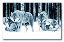 """Wolf Pack QUALITY Canvas Art Print Poster - 12x8"""""""