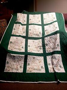 """Homemade Quilt 72""""x92"""" Deer"""