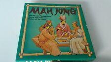 MAH JONG game set by MS 144 wooden pieces, VGC and rule