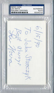 PSA/DNA SIGNED INDEX CARD  LOU NOVA  0733