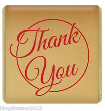 1500x Gold Thank You Neapolitan Milk Chocolate Favours Individually Foil Wrapped