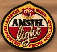 Vintage Amstel Light Beer Patch Jacket Hat Uniform Gold Thread Red Yellow Black